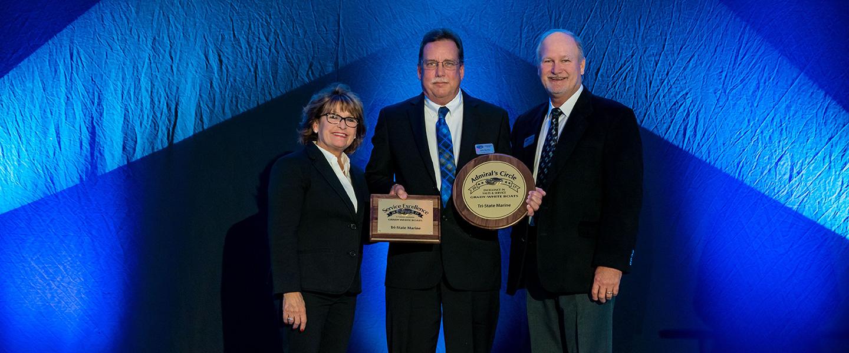 John accepting 2017 GW award